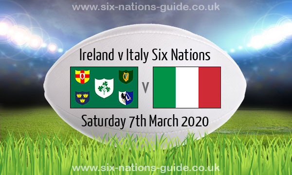 When is Ireland vs Italy rescheduled date and why was Six