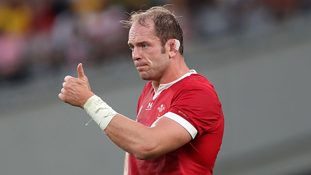 Alun Wyn Jones during the Australia v Wales pool match at 2019 Rugby World Cup