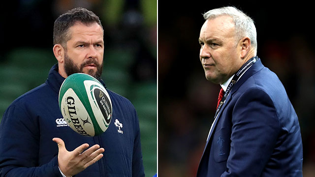Andy Farrell and Wayne Pivac