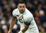 Ben Te'o in action for England during 2018 Six Nations