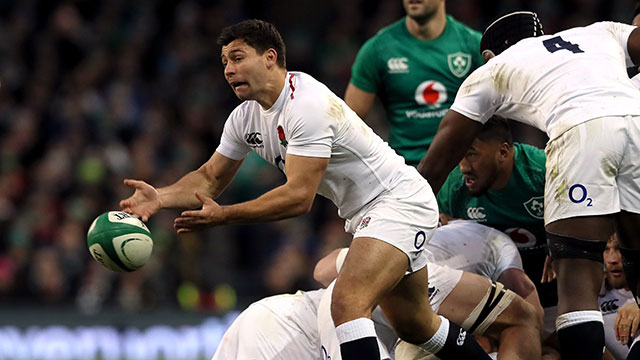 Ben Youngs in action for England v Ireland in 2019 Six Nations