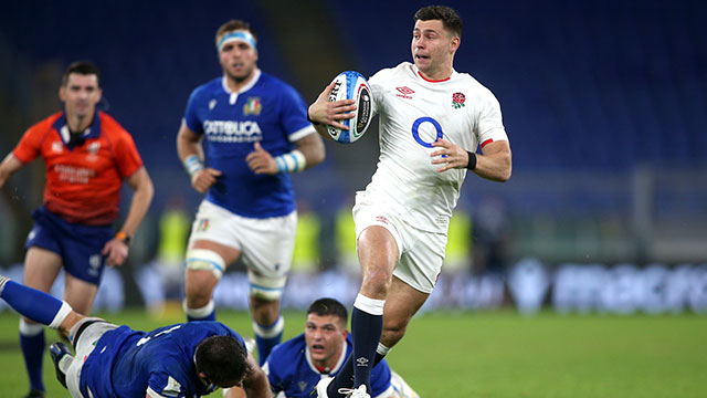 Ben Youngs scores a second try for England v Italy in 2020 Six Nations