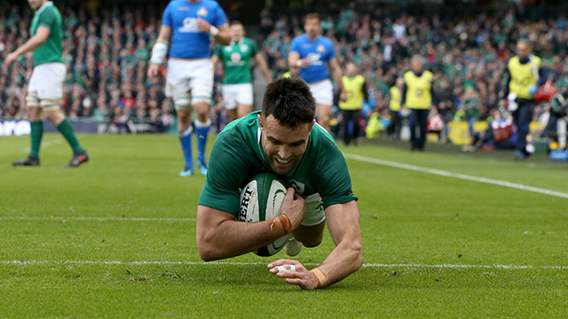 Conor Murray dives in to score Ireland's second try
