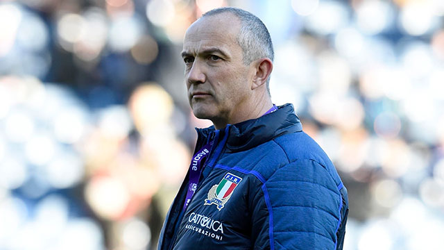 Conor O'Shea before Scotland v Italy match in 2019 Six Nations