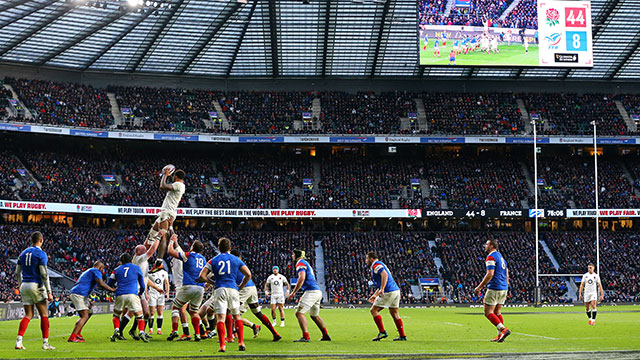 England v France at Twickenham during 2019 Six Nations