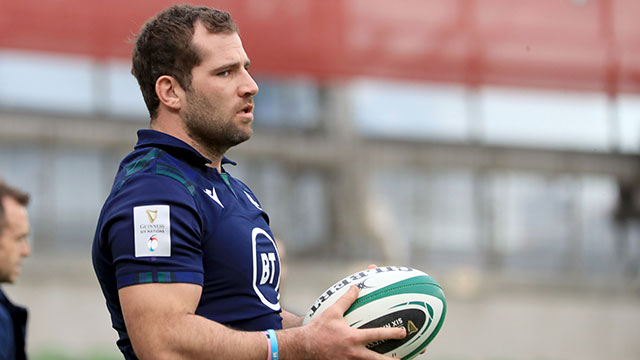 Fraser Brown during Captains run at Aviva Stadium in 2020 Six Nations