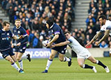 George Ford tackles Gordon Reid during the Scotland v England match in 2018 Six Nations