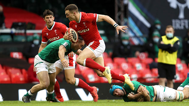 George North in action during the Wales v Ireland match in 2021 Six Nations