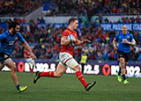 George North scores against Italy in Rome