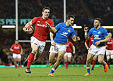 George North scores for Wales against Italy in Six Nations