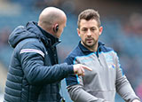 Gregor Townsend with Greig Laidlaw before Scotland v Ireland match in 2019 Six Nations