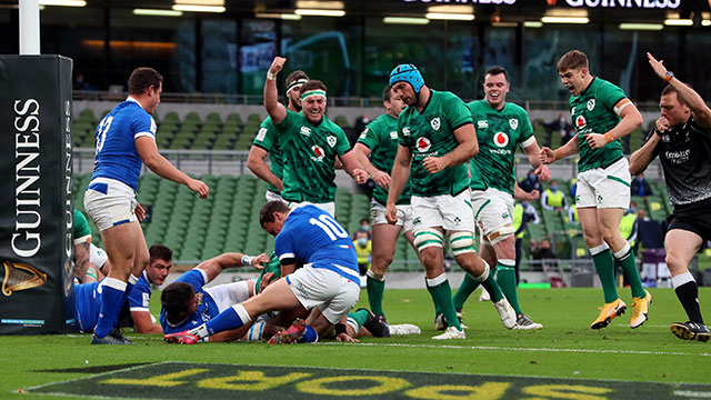 Ireland hammered Italy 50-17 in 2020 Six Nations