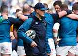 Joe Schmidt with his team before Ireland v Scotland 2019 Six Nations match