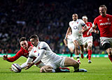 Jonny May scores Englands first try against Wales