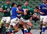 Johnny Sexton scores a try for Ireland v Italy in 2020 Six Nations