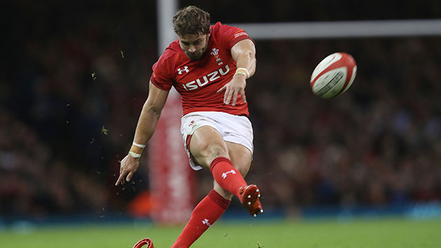 Leigh Halfpenny in action for Wales during the Autumn Internationals