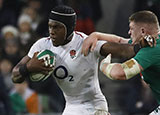 Maro Itoje in action for England v Ireland in 2019 Six Nations