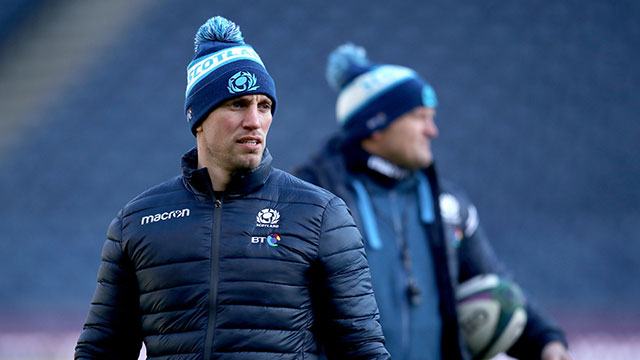 Scotland assistant coach Mike Blair during captain's run