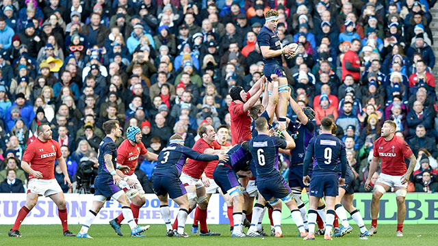 Scotland v Wales match during 2019 Six Nations