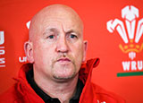 Shaun Edwards at Wales press conference
