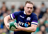 Stuart Hogg in action for Scotland during 2018 Six Nations