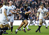 Stuart McInally in action for Scotland v England in 2018 Six Nations