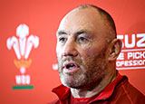 Wales assistant coach Robin McBryde in press conference