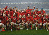 Wales celebrate winning 2019 Six Nations