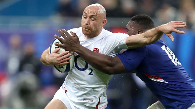 Willi Heinz in action for England against France in 2020 Six Nations